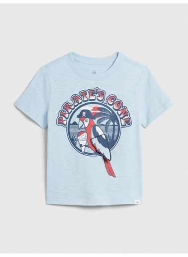 Gap Grafik Kısa Kollu T-Shirt Mavi